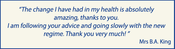Testimonial for Dr Claire Bowen's Completing the Jigsaw M.E. / CFS Recovery Manual